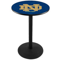 Holland Bar Stool L214B3628ND-ND 28 inch Round University of Notre Dame Pub Table