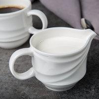 Syracuse China 995679522 Resonate 6 oz. Royal Rideau White Porcelain Stacking Creamer - 24/Case