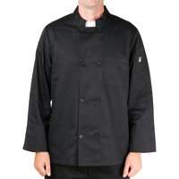 Chef Revival Bronze Black Size 60 (4X) Customizable Double-Breasted Chef Jacket with Chest Pocket