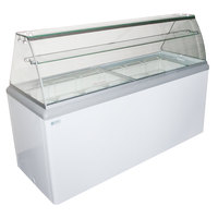 Excellence HBG-12 70 3/4 inch 12 Pan Gelato Dipping Cabinet