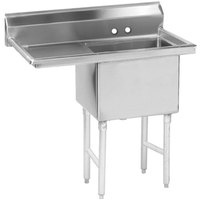 Advance Tabco FS-1-1620-18 Spec Line Fabricated One Compartment Pot Sink with One Drainboard - 36 1/2 inch