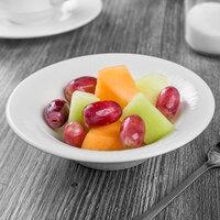 Syracuse China 909089710 Solario 4.5 oz. Round Royal Rideau White Porcelain Fruit Bowl - 36/Case
