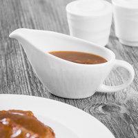 Syracuse China 909089729 Solario 3 oz. Royal Rideau White Porcelain Sauce Boat - 12/Case