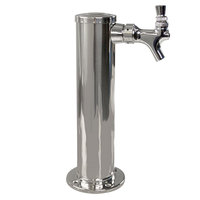 Micro Matic D4740 Polished Stainless Steel 1 Tap Tower - 2 1/2 inch Column