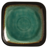 World Tableware BF-8 Hakone 9 inch Square Stoneware Plate with Square Detailing - 12/Case