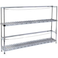 Metro 2KR345DC Four Keg Rack with Two Dunnage Racks - 42 inch x 18 inch x 56 1/8 inch