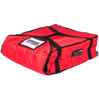 Rubbermaid FG9F3700RED ProServe Large Red Insulated Nylon Pizza Delivery Bag - 21 1/2 inch x 19 3/4 inch x 7 3/4 inch