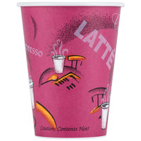 Dart Solo 412SIN-0041 Bistro Print 12 oz. Poly Paper Hot Cup - 1000/Case
