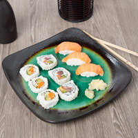 World Tableware BF-10 Hakone 10 1/2 inch Square Stoneware Plate with Round Detailing - 12/Case