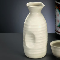 World Tableware RS-9 Hakone 11 oz. Miyagi White Stoneware Sake Bottle - 12/Case