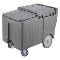 Cambro ICS175LB191 SlidingLid Granite Gray Portable Ice Bin - 175 lb. Capacity