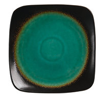 World Tableware BF-6 Hakone 6 1/4 inch Square Stoneware Plate with Round Detailing - 36/Case
