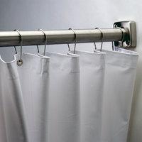 Bobrick 204-2 White Vinyl Shower Curtain - 42 inch x 72 inch