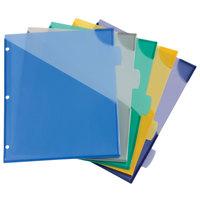 Avery 16183 Big Tab 5-Tab Multi-Color Write-On Plastic Corner Lock Dividers