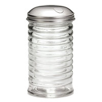 Tablecraft BH857 12 oz. Beehive Pourer with Stainless Steel Side Flap Top