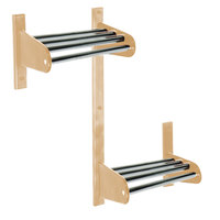 CSL TFXMBADA-30-L 30 inch ADA Series Light Oak Wall Mount Coat Rack with Zinc Top Bars and 5/8 inch Hanging Rod