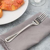 Bon Chef S1006 Sombrero 8 3/16 inch 18/10 Stainless Steel Extra Heavy European Size Dinner Fork - 12/Case