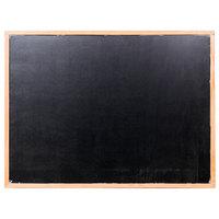 Aarco BOC3648NT-B OAK 36 inch x 48 inch Oak Frame Black Marker Board