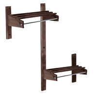 CSL TCOADAMB-30D 30 inch ADA Series Dark Oak Wall Mount Coat Rack with Hardwood Top Bars and 5/8 inch Hanging Rod
