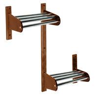 CSL TFXMBADA-36-D 36 inch ADA Series Dark Oak Wall Mount Coat Rack with Zinc Top Bars and 5/8 inch Hanging Rod