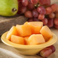Carlisle 4304222 Durus 4 1/2 oz. Honey Yellow Rimmed Melamine Fruit / Monkey Dish - 48/Case