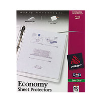 Avery 74101 8 1/2 inch x 11 inch Economy Semi-Clear Acid-Free Sheet Protectors - 100/Box