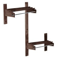 CSL TCOADAMB-36D 36 inch ADA Series Dark Oak Wall Mount Coat Rack with Hardwood Top Bars and 5/8 inch Hanging Rod