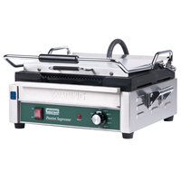 Waring WPG250 Panini Supremo Grooved Top & Bottom Panini Sandwich Grill - 14 1/2 inch x 11 inch Cooking Surface - 120V, 1800W
