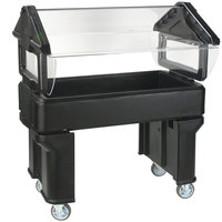 Carlisle 660503 Black 4' Six Star Open Base Portable Food / Salad Bar
