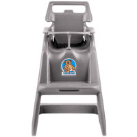 Koala Kare KB103-01 Gray Assembled Classic High Chair with Wheels