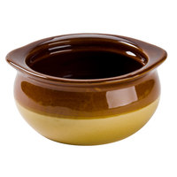 Core 12 oz. Brown and Ivory China Onion Soup Crock / Bowl - 24/Case