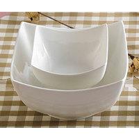 CAC SHA-B8 Sushia 64 oz. Super White Square Porcelain Bowl - 24/Case