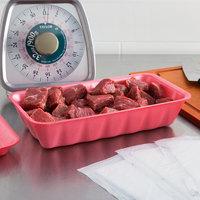 CKF 88076 (#10K) Rose Foam Meat Tray 10 3/8 inch x 5 5/8 inch x 2 inch - 250/Case