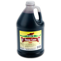 Fox's 1 Gallon Grape Snow Cone Syrup - 4/Case