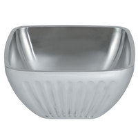 Vollrath 47683 Fluted Double Wall Square 5.2 Qt. Serving Bowl