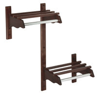 CSL TJFADA-30-D 30 inch ADA Series Dark Oak Hardwood Top Bars Wall Mount Coat Rack with 1 inch Hanging Rod