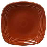 Homer Laughlin 920334 Fiesta Paprika 9 1/4 inch Square Luncheon Plate - 12/Case