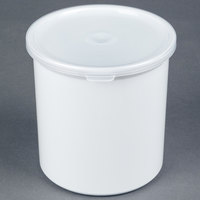 Carlisle 030102 1.2 Qt. White Classic Crock with Lid - 12 / Case