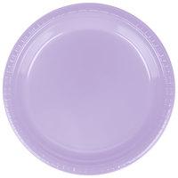 Creative Converting 28193021 9 inch Luscious Lavender Purple Plastic Plate - 240/Case