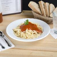 Tuxton YPD-112 Sonoma 20 oz. Bright White Embossed Rim China Pasta Bowl - 12/Case