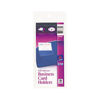 Avery 73720 3 1/2 inch x 2 inch Self-Adhesive Business Card Holder - 10/Pack