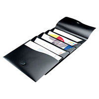 Avery AVE73517 8 1/2 inch x 11 inch Black 5 Pocket Slide and View Expanding File