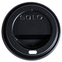 Dart Solo TL31B2-0004 10 oz. Black Plastic Travel Lid - 1000/Case
