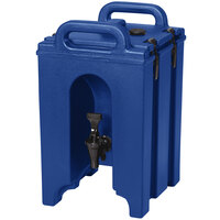 Cambro 100LCD186 Camtainer 1.5 Gallon Navy Blue Insulated Beverage Dispenser
