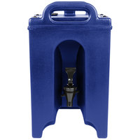 Cambro 100LCD186 Camtainers® 1.5 Gallon Navy Blue Insulated Beverage Dispenser
