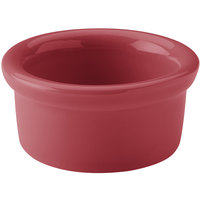 Hall China 30366326 Scarlet 5 oz. Colorations Round China Ramekin - 24/Case