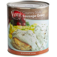 Vanee 590PX #10 Can Country Style Sausage Gravy   - 6/Case