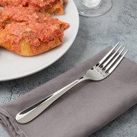 Bon Chef S106 Monroe 8 1/8 inch 18/10 Stainless Steel Extra Heavy European Size Dinner Fork - 12/Case