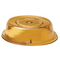Cambro 806CW153 Camwear Camcover 8 7/16 inch Amber Plate Cover - 12/Case