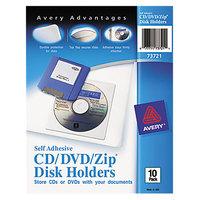 Avery 73721 CD/DVD/Zip Self-Adhesive Pocket - 10/Pack